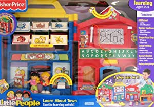 Little People Learn About Town Playset w Songs, Sounds & Phrases - 4 Playsets in 1 (2008)