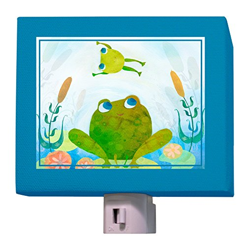 "Oopsy Daisy Froggy Leap Night Light, Blue, 5"" X 4"""