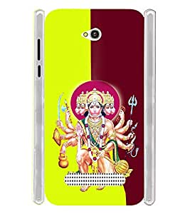 Lord Hanuman Bagwan Soft Silicon Rubberized Back Case Cover for Lava Flair Z1
