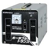 育良精機 ポータブルトランス PT50D 降圧専用 AC200V