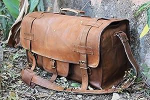 HLC Genuine Leather Handmade Vintage Duffel Luggage Travel Bag Duffel Gym Bag Yogo Bag Travelling Bag from Krishna Handicraft