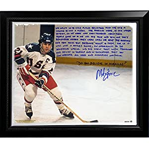 Amazon.com: Mike Eruzione Facsimile 'Miracle' Story Stretched Framed