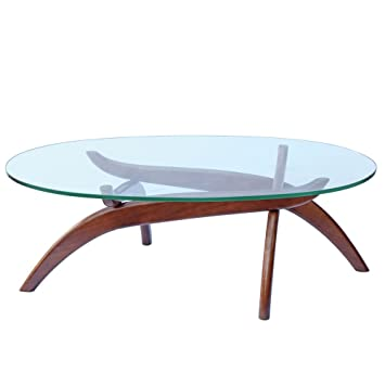 Designer Modern Spider Coffee Table Dark Walnut Base