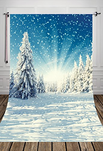 5x7ft-snow-forest-art-fabric-photography-backdrop-snowscape-custom-photo-prop-backgrounds-d-2396