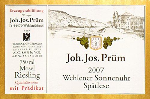 2007 Joh. Jos. Prum Wehlener Sonnenuhr - Spatlese Riesling Mosel 750 Ml