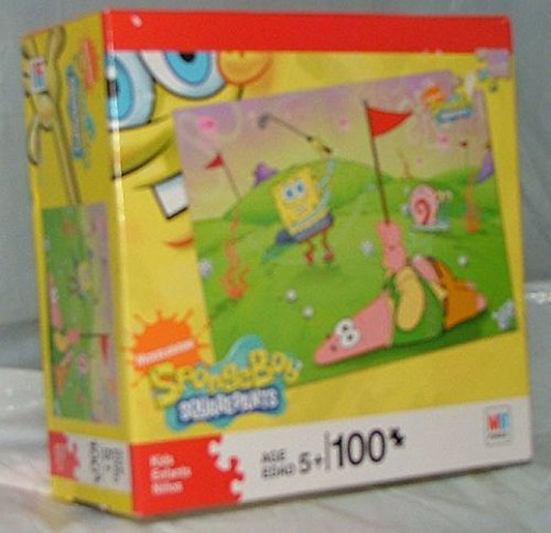 Sponge Bob Square Puzzle. 100 Pieces