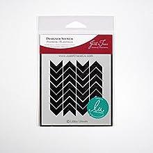 Just A Trace Scarf Designer Stencil 4-Inch