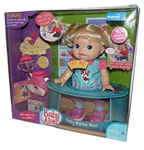 Amazon Com Baby Alive Baby Wanna Walk Blonde Bonus Pack