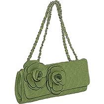 Mellow World Quilted Floris Clutch (Green)
