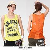 ルーズ Tシャツ トップス エアロビクスウェア ズンバウェア ダンスウェア レディース issue (FREE, オレンジ)