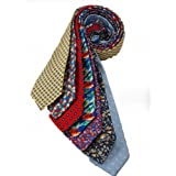 7Piece 100% Pure Silk Ties. Made in England. (112D)RRP139.99