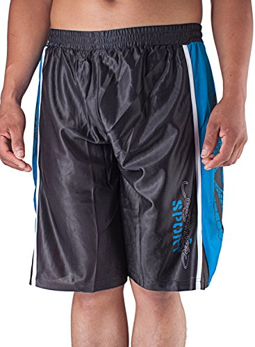 Ed Hardy Mens Snake Sweat Pants Shorts - Black - Large