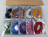 (C06)ろう引き高級カラフル 希少色の取り揃え充実 ロウ引き手縫い糸10色セット 各色10m