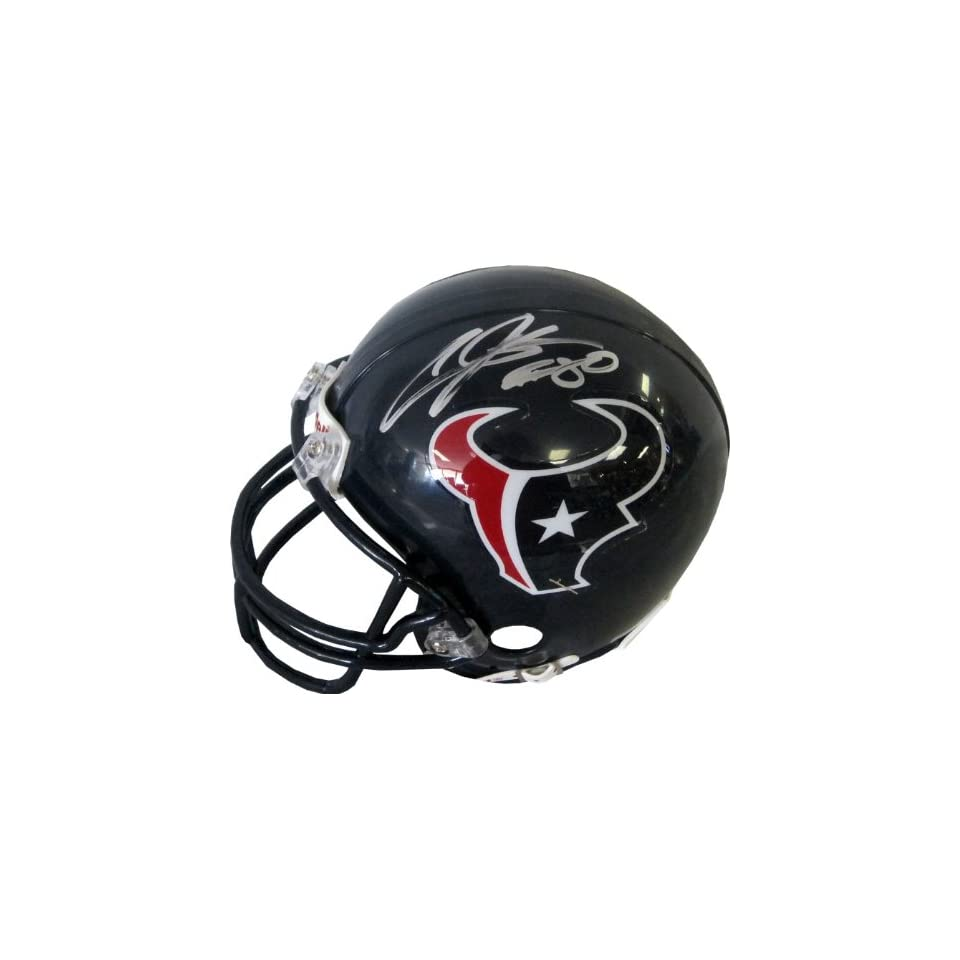 Andre Johnson Hand Signed Autographed Houston Texans Riddell Football Mini He