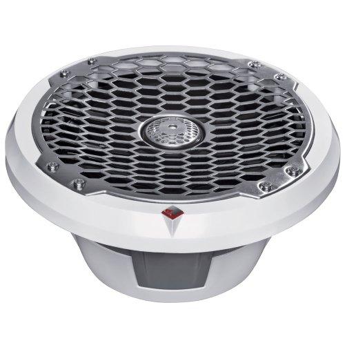 "Rockford Fosgate 8"" Full-Range Coax/Component Speaker - 100W Rms/200W Max - (Pair) Stainless/White"