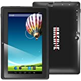 "Haehne 7"" Zoll Android 4.4 KitKat Google Tablet PC IPS HD 1024*600 Pixel Multi-Touch Kapazitiven Schirm Quad Core 16GB Allwinner A33 Cortex A7 Doppelkameras 0.3MP 2.0MP DDR3 512M WiFi (Schwarz)"