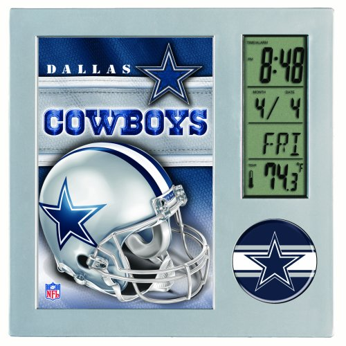 NFL Dallas Cowboys Digital Desk Clock at Amazon.com