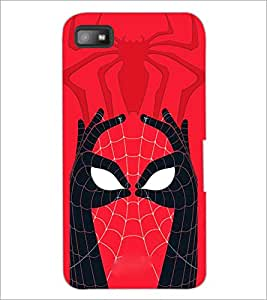 PrintDhaba Spider face D-3971 Back Case Cover for BLACKBERRY Z10 (Multi-Coloured)