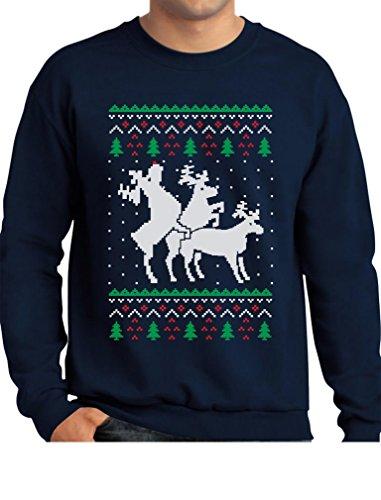 TeeStars - Funny Ugly Christmas Sweater Party Humping Reindeer Sweatshirt