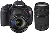 Canon EOS Rebel T3i 18 MP CMOS Digital SLR Camera with EF-S 18-135mm Lens + EF-S 55-250mm IS Telephoto Zoom Lens by Canon