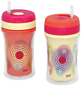 Gerber Graduates Learning System Insulated Straw Cup 2-pk, Assorted Cups
