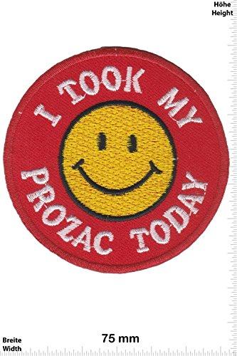 patch-i-took-my-prozac-today-smiley-smilie-fun-patch-adult-chaleco-toppa-applicazione-ricamato-termo