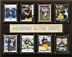 Buy NCAA Football Michigan Wolverines All-Time Greats Plaque by C&I Collectables
