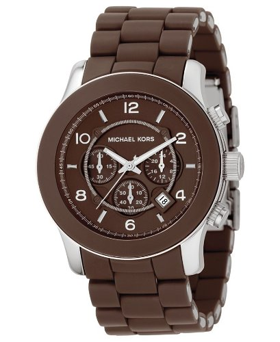 Michael Kors Men's MK8129 Oversize Chocolate Silicone Runway Watch