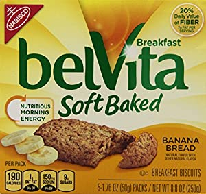 Nabisco, Belvita, Soft Baked, Banana Bread, 8.8oz Box (Pack of 4)