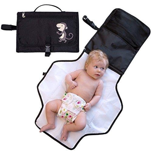 NuoYo Pad di Pannolino del Bambino, Outdoor Baby Diaper Pad, Fasciatoio Portatile per Cambiare il Pannolino del Bambino, Colore:Nero.
