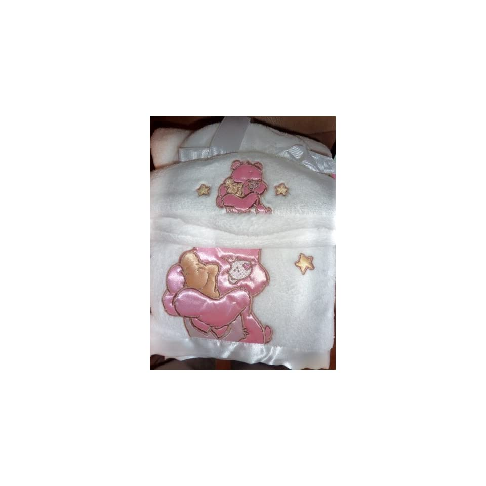 Care Bears baby cozy plush blanket with satin trim NEW Baby