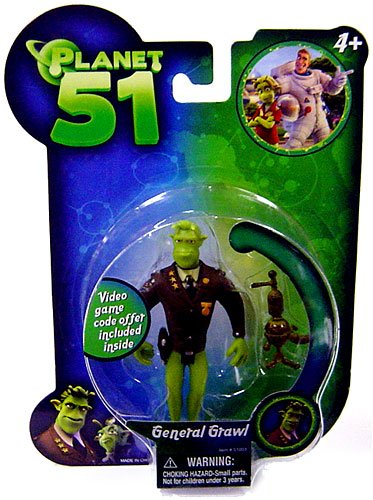 Planet 51 Action Figure General Grawl - 1