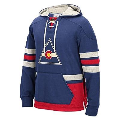 "Colorado Rockies Men's NHL CCM ""Lace Em Up"" Pullover Hooded Sweatshirt - Blue"