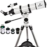 Gskyer  Telesacope, Powerseeker 600x90mm AZ Refractor Telescope, German Technology  Scope