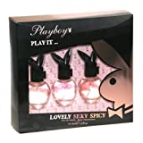 Playboy Eau de Toilette Spray 3 Piece Gift Set for Women with Lovely, Sexy, and Spicy (Tamaño: 1 Ounces)