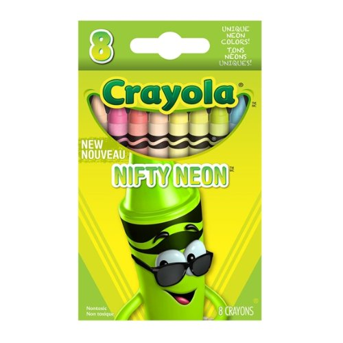 Crayola Nifty Neon Crayons 8 Count (121587) back-1016107
