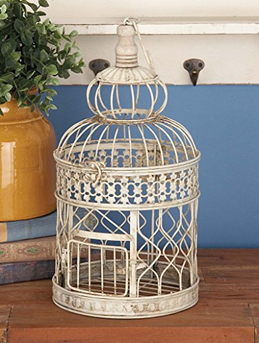Deco 79 Metal Wall Hanging Bird Cage, 22-Inch and 18-Inch, Set of 2 1