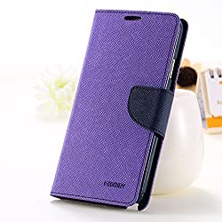 Pikimania Mercury Goospery Fancy Diary Wallet Case Cover for Samsung Galaxy Grand 2 SM-G7106 (Purple)+OTG