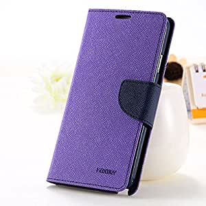 Solaris Infotech Mercury Goospery Fancy Diary Wallet Case Cover for Yu Yuphoria (Purple)