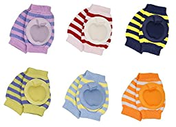 Gellwhu Infant Toddler Baby Knee Pad Crawling Safety Protector, Pack of 6 Pairs