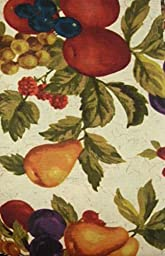 Fruit Themed LucaVines Fabric Tablecloth (60x84 Inch Oblong) by Town & Country Living