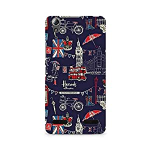 Mobicture London Fusion Premium Printed Case For Lenovo A6000