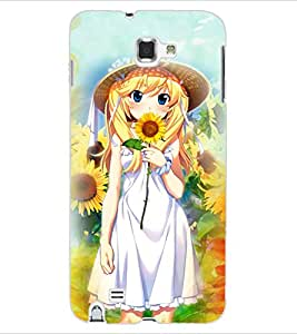 Colourcraft Girly Back Case Cover For Samsung Galaxy Note 1