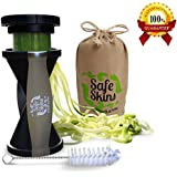 Safe Skins Spiral Slicer, Eco Friendly Bag and Kitopia's Veggie Slicer Recipe Ebook With 40 Recipes