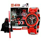 Lego Year 2010 Star Wars Series Watch With Minifigure Set #9001932 Darth Maul Watch Plus Darth Maul Minifigure...