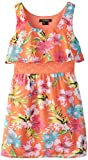 My Michelle Big Girls' Floral Pattern Popover Dress