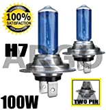 H7 100W XENON SUPER BRIGHT WHITE LIGHT HEADLIGHT BULBS FIAT STILO
