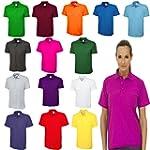 Ladies Loose Fit Polo Shirt Pique Plu...