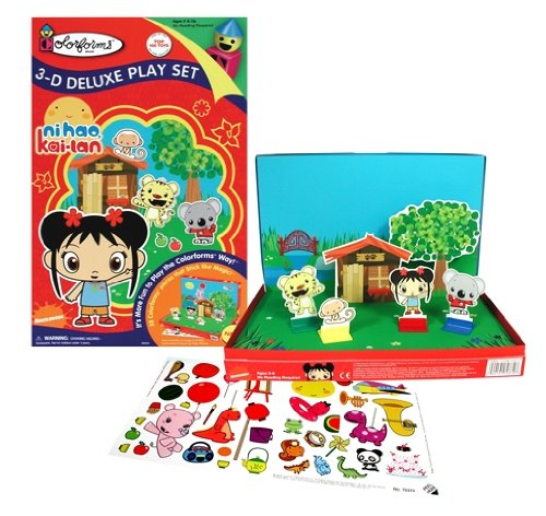 Colorforms Ni Hao Kai Lan 3-D Deluxe Play Set - 1