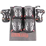 HIROMARUjp プロテクター 3点セット 手首パッド ひじパッド ひざパッド 収納袋付き